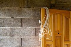 Erweiterung des elektrischen Kabels schließen an Stockfotografie