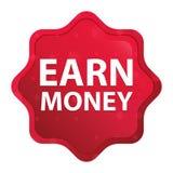 Erwerben Sie das nebelhafte Geld stieg roter starburst Aufkleberknopf lizenzfreie abbildung