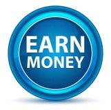 Erwerben Sie Geld-Augapfel blauen runden Knopf stock abbildung