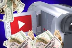 Erwerben Sie Geld durch Ihr Video Lizenzfreies Stockfoto