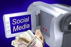 Erwerben Sie Geld durch Ihr Video Stockfoto