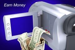 Erwerben Sie Geld durch Ihr Video Lizenzfreies Stockbild