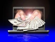 Erwerben Sie Geld vom Internet Lizenzfreies Stockbild