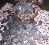 Erwerben Sie on-line-Geld Stockbild