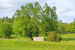 Erwin Rommel Memorial, Heidenheim een der Brenz Stock Foto