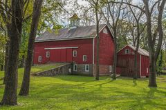 Historic Red Barn stock photos