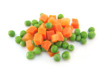 Erwten en wortelen Stock Foto
