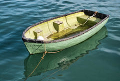 Erwtengroene Boot Royalty-vrije Stock Foto's