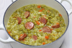 Erwtensoep, pea soup. Traditional dutch cuisine Royalty Free Stock Image