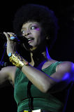 Erykah Badu performing live. Stock Image