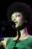 Erykah Badu performing live. At the Hollywood Palladium in September 2009 Royalty Free Stock Photo