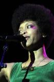 Erykah Badu performing live Royalty Free Stock Photo