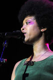 Erykah Badu performing live. Erykah Badu performing live at the Hollywood Palladium in September 2009 Stock Photo