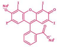 Erythrosine τύπος - κόκκινο αριθ. 3, E127 διανυσματική απεικόνιση