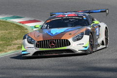 12 Erz Hankook Mugello am 18. März 2017: #30 Ram Racing, Mercedes AMG GT3 Stockfotografie