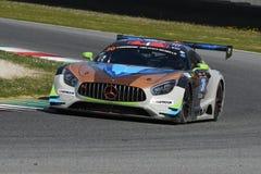 12 Erz Hankook Mugello am 18. März 2017: #30 Ram Racing, Mercedes AMG GT3 Lizenzfreie Stockfotos