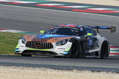 12 Erz Hankook Mugello am 18. März 2017: #30 Ram Racing, Mercedes AMG GT3 Stockbild