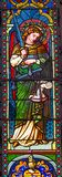 Erzengel Michael Stained Glass Baptistery Cathedral Pisa Italien stockfoto