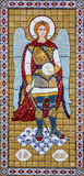 Erzengel Michail auf orthodoxer Ikone in monaster Kiews Pechersk Lavra Stockbild