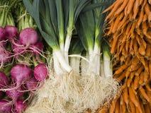 Erzeugnis - organischer Gemüsehintergrund stockfotografie
