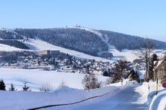 Erzgebirge在萨克森,德国 免版税库存照片