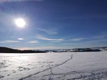 The Erzgebirge in the winter stock images