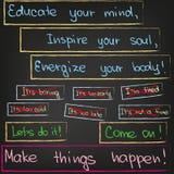 Erziehen Sie Ihren Verstand, spornen Sie Ihre Seele an Lizenzfreie Stockfotos