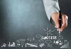 Erzielen des Erfolgs Stockfotos