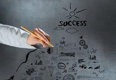Erzielen des Erfolgs Lizenzfreie Stockfotos