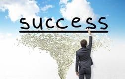 Erzielen des Erfolgs Stockfoto