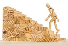 Erzielen Sie Niveau durch Niveau im Leben und im Job lizenzfreies stockfoto