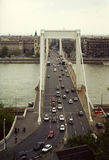 Erzsébet Bridge Stock Photo