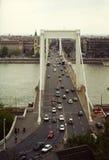 Erzsébet Brücke Stockfoto