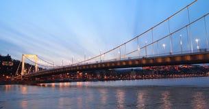 Erzsebet Brücke stockfotografie