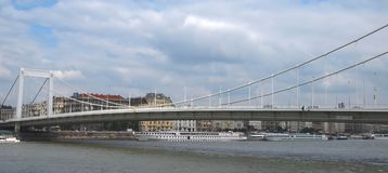 Erzsebet Bridge Royalty Free Stock Photos