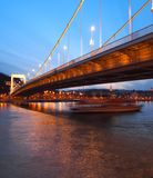 Erzsebet Bridge Royalty Free Stock Photos
