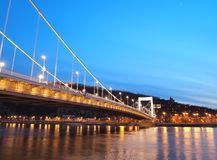 Erzsebet Bridge Royalty Free Stock Photography