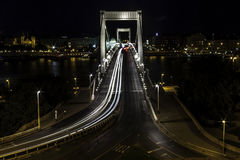 Erzsebet Bridge Royaltyfria Bilder