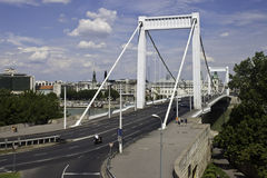 Erzsebet bridge Stock Images