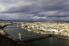 Erzsebet bridge Stock Image