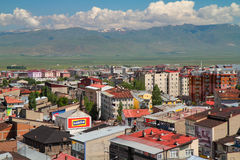 Erzurum view. Erzurum is a modern town surrounded by mountains at east of Turkey. isolated by mountains but connected to world by internet and publicity stock images