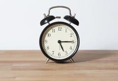 Es último reloj cuarto del ` de cinco o Imagen de archivo libre de regalías