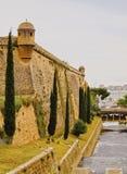 Es Baluard Walls in Palma of Majorca. Walls of Es Baluard in Palma de Mallorca, Balearic Islands, Spain Royalty Free Stock Image