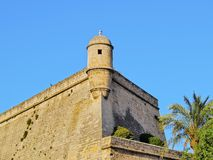 Es Baluard Walls in Palma of Majorca Royalty Free Stock Image