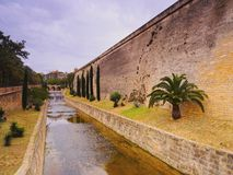 Es Baluard Walls in Palma of Majorca. Walls of Es Baluard in Palma de Mallorca, Balearic Islands, Spain Royalty Free Stock Photography