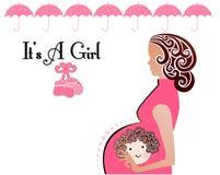 Es botines de la muchacha de una madre del bebé stock de ilustración