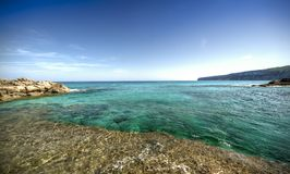 ES Calo镇在福门特拉岛 库存照片