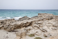 Es Calo Beach; Formentera; Balearic Islands Stock Images