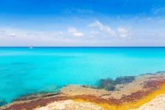 Es Calo de San Agusti in Formentera Balearic Stock Image