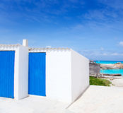 Es Calo de San Agusti in Formentera island Stock Images